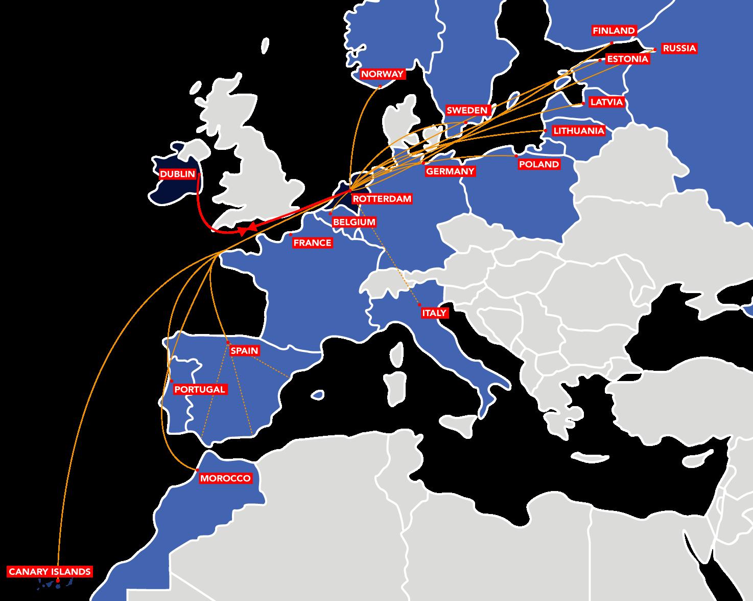 Dublin to Rotterdam Intermodal