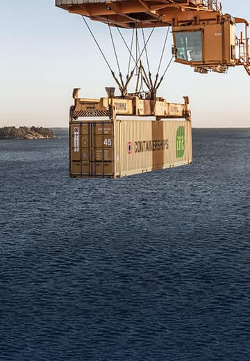 Container Held by a Crane